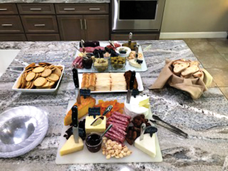 """Offerings for the """"Blind Wine Tasting and Cheese Event."""""""