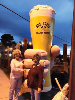 Susan Williams and Debbie Flato were among the 12 ladies who enjoyed a night out at the Ore House in Oracle.