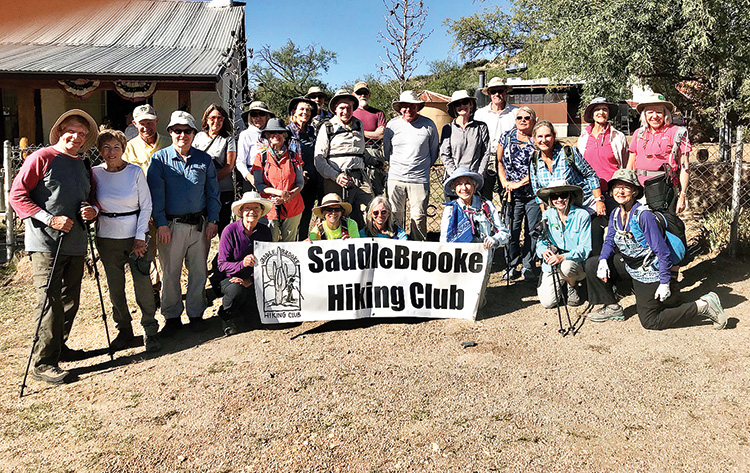 SaddleBrooke Hiking Club participants in AZ Trail in a Day. Photo by Kevin Armbrust.