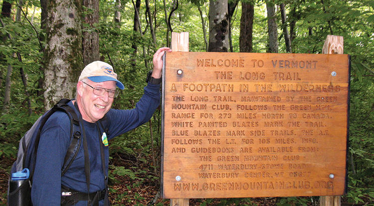 Welcome to Vermont: The Long Trail. Photo by an unknown Vermont hiker.