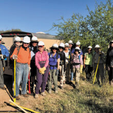 SaddleBrooke hikers participate in an October work party on the Arizona Trail. Photo by Gary Faulkenberry.
