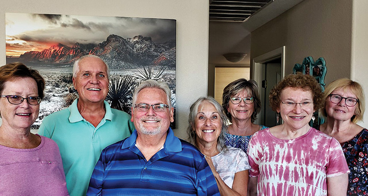 Members of the Fundraising Steering Committee (left to right): Beth Longman, Dan Bergquist, Alan Surber, Diane Clary, Esther Olson, Varda Main, Susan Auster; Photo by Laurie Surber.