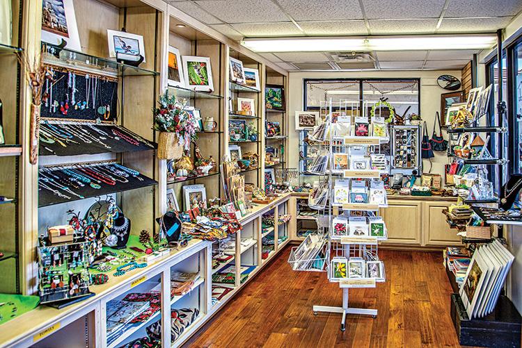 The SaddleBrooke Gift Shop's interior showing numerous gift items.