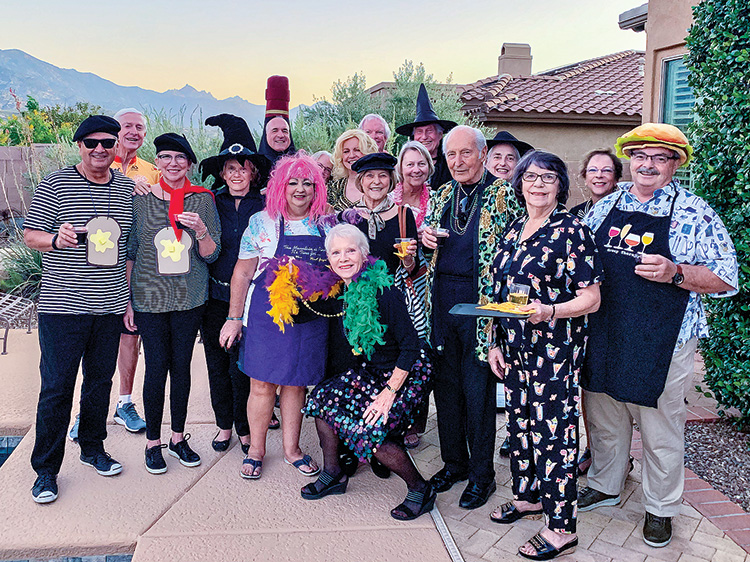 Francophiles' celebrate Halloween in grand style.