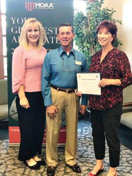 Gina L. Osborne, Col William Nagy, and Constance Y. Huff