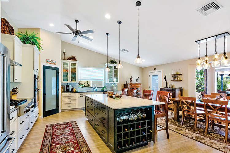 In the 2019 SBCO Home Tour, attendees saw the Gianotti home, which features a dramatic new kitchen with expansive island, pantry and all new appliances.