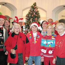Unit 17 carolers sang Christmas carols to various homes.