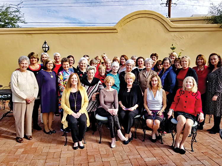 The Unit 27 ladies after enjoying another lovely holiday luncheon at Vivace; Photo by Jan Talbot.