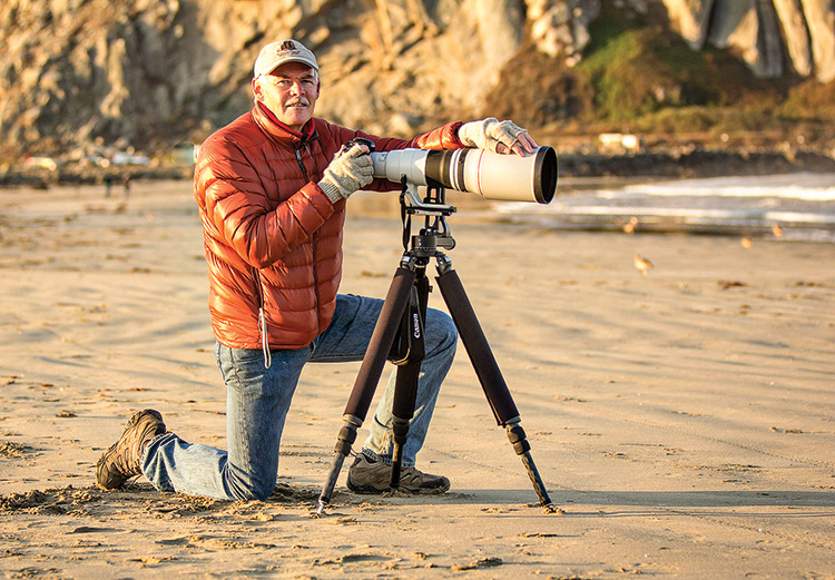 Bob Shea with Camera; Photo by Robert Shea.