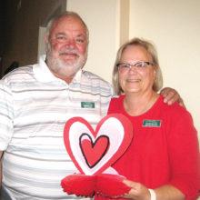 Bob and Brenda Seaman were great Valentine's hosts. Photo by Mary Gelinas.