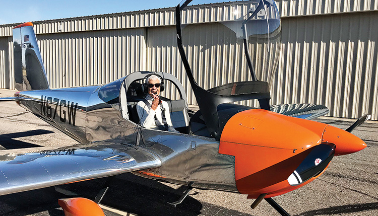 Janet Schmidt, ready for take-off!