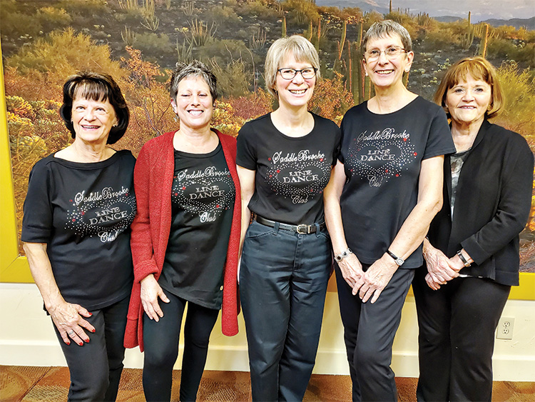 Board members (left to right): Dottie Adams, Diana Carbone, Anne Romeo, Lynne Kumza, and Barbara Brunswig. Photo by Dorothy Wood.