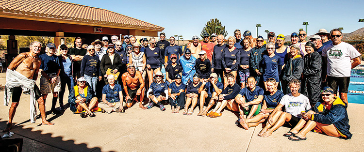 Both volunteers and participants enjoyed the sunny swim meet.
