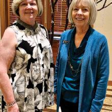 MPLN President Barabra Bloch (left) and Vice President Diane Mazzarella