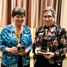 Aces of the Year winners, Caryl Dowell (left) and Raye Cobb.