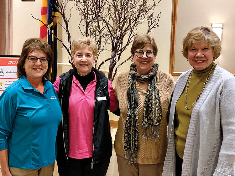 A fun day with SaddleBrooke One and SaddleBrooke TWO (left to right): Theresa Mares (One), Sue Wilson (TWO), Phyllis Cadden (TWO), Marty Wilkes (One).