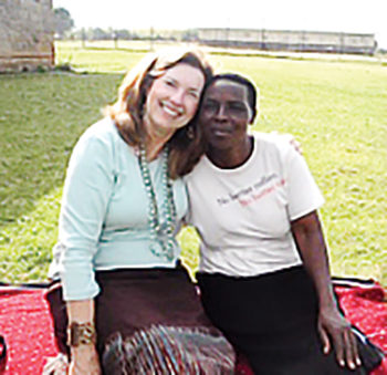 "Janet with one of her Ugandan ""sisters"""