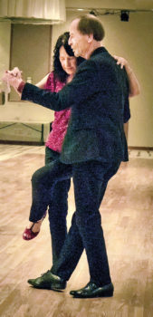Instructors Tom and Mary Borkovec are dancing the Argentine tango. (Photo by Sheila Honey)