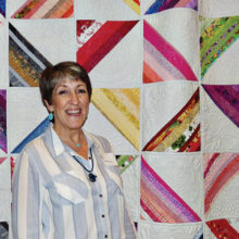 """Pat Morris was the runner-up for the People's Choice Award with her quilt, """"Lollipop Trees."""""""