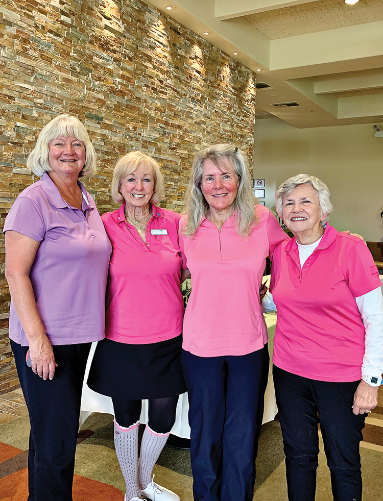 Third place (left to right): Sue Allen (QC), Eileen Snearly, Julie Mocek (QC), and Marla Butcher