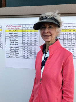 Our Club Champion red tees flight one winner Mary Ribachi