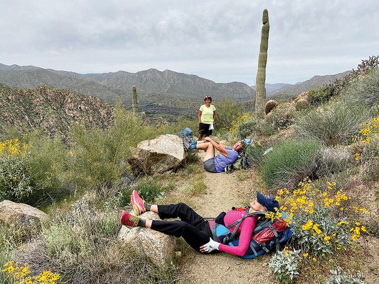 Any place is a good place to stop and relax. (Photo by Linda Eglin)
