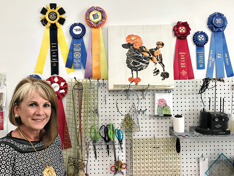 Tami with some of her many ribbons.
