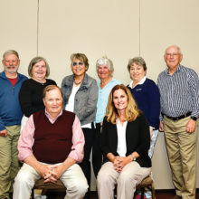 Front row (left to right): Oro Valley Council members Bill Rodman, Rhonda Pina; Back row: Commission members Jim Galligan, Bruce Hale, Sheila Clarkin, Jo Ann Ellison (chairwoman), Ann Adams, Joan Elder, Jim Hagedon, and David Bull (Photo by Bob Koblewski)