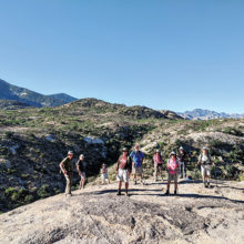 SaddleBrooke hikers top Dome Rock (Photo by Ruth Caldwell)
