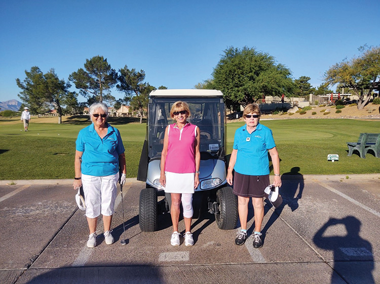 2020 President's Cup Tournament finalists Maria Byers, Yvonne Garthwait, and Sharon Dicosola