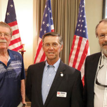 Members of the Catalina Mountains Satellite Chapter of the Military Officers Association of America are (left to right): Col. Phil Osterli USA (ret.), Col. Bill Nagy USAR (ret.), and LTJG Dave Bull USN (former).