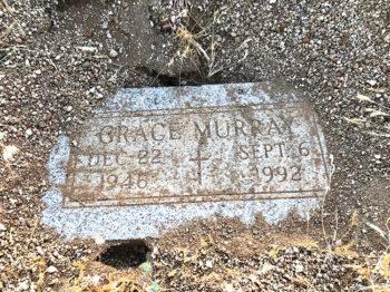 Gravestone of Grace Murray (Photo by Elisabeth Wheeler)