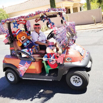 Unit 24 golf cart parade winner (Photo submitted by George Bennett and Dwayne & Jane Nelson)