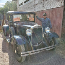Jerry Parra and old car