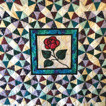 Quilt made by Marsha Webster for St. Mary's End of Life Ministry