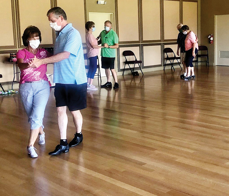 SBDC has re-started dance practices, maintaining social distancing, masks, and sanitization procedures. (Photo credit Wanda Ross)