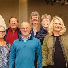 Former treasurer Jim Barrett, upper left, and his fellow board members, in February 2020 (Photo by Bob Shay)