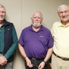 SB Men's Niner Officers (left to right) Gary Brunelle, Jay Love, and Gary Beeler