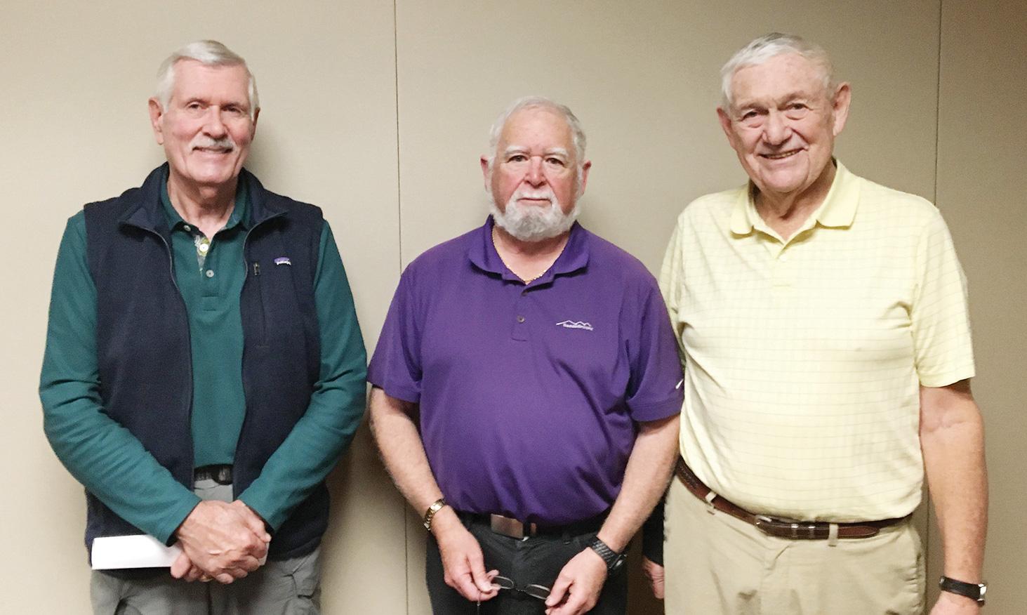 SB Men's Niner Officers (left to right) Gary Brunelle, Jay Love, and Gary Beeler