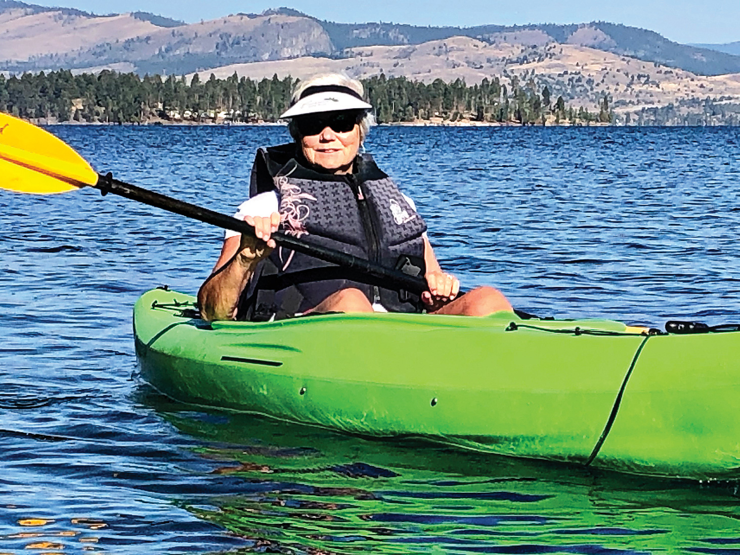 Sandy Barney kayaking on Flathead Lake (Photo submitted by Sandy Barney)