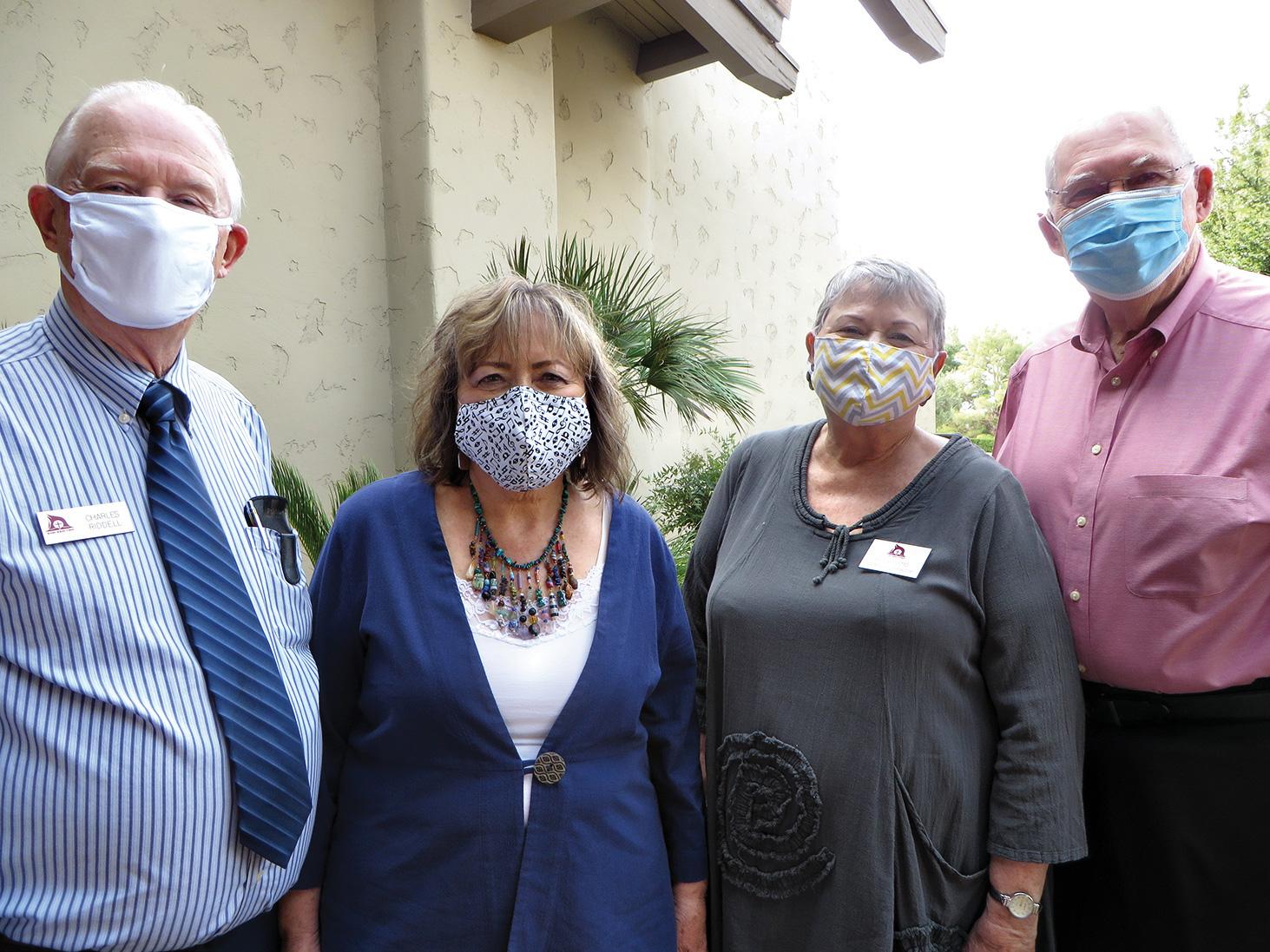 Resurrection Church staff (from left): Charles Riddell, Susan Tjossem, Karen Hustad, and Pastor Wayne Viereck
