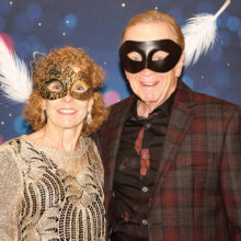 Bob Osborne and Wanda Ross at last year's Masquerade Ball (Photo by Sheila Honey)