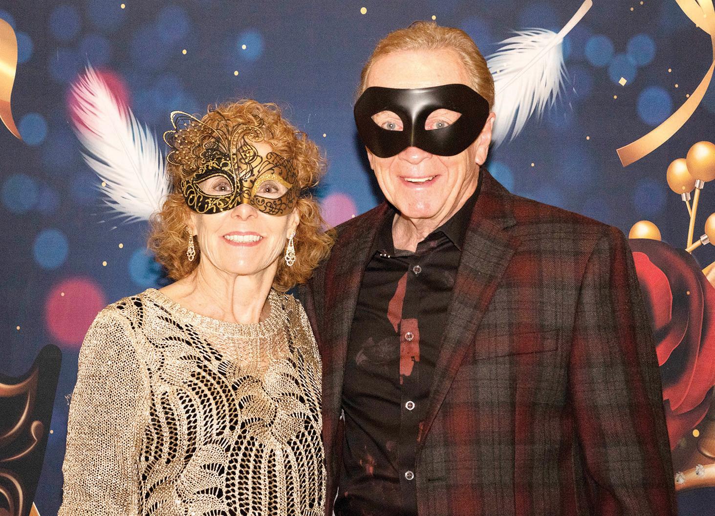 Bob Osborne and Wanda Ross at last year's Masquerade Ball (Photo by Sheila Honey)