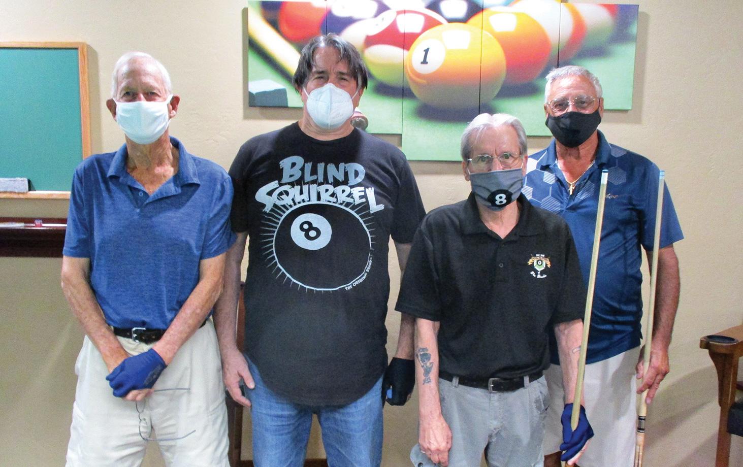 Left to right: Bob Ogle, 4th; Tom Barrett, 3rd; Joe Giammarino, 2nd; and Tony Cardillo, 1st