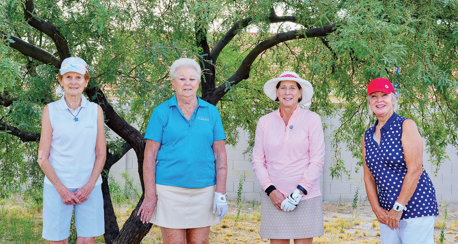Birdie Flight winners: Ann Running, Dian Kupper, Laura Ingold, and Deb Ousley
