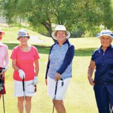 Bows Flight winners: Joan Chyall, Marsha Foresman, Sandra Murray, and Maria Byers