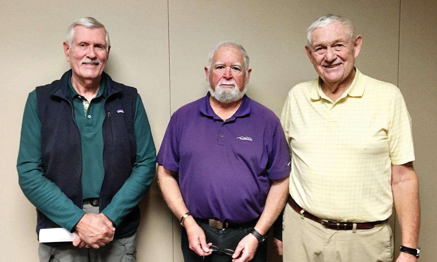 SB Men's Niner officers (left to right): Gary Brunelle, Jay Love, and Gary Beeler