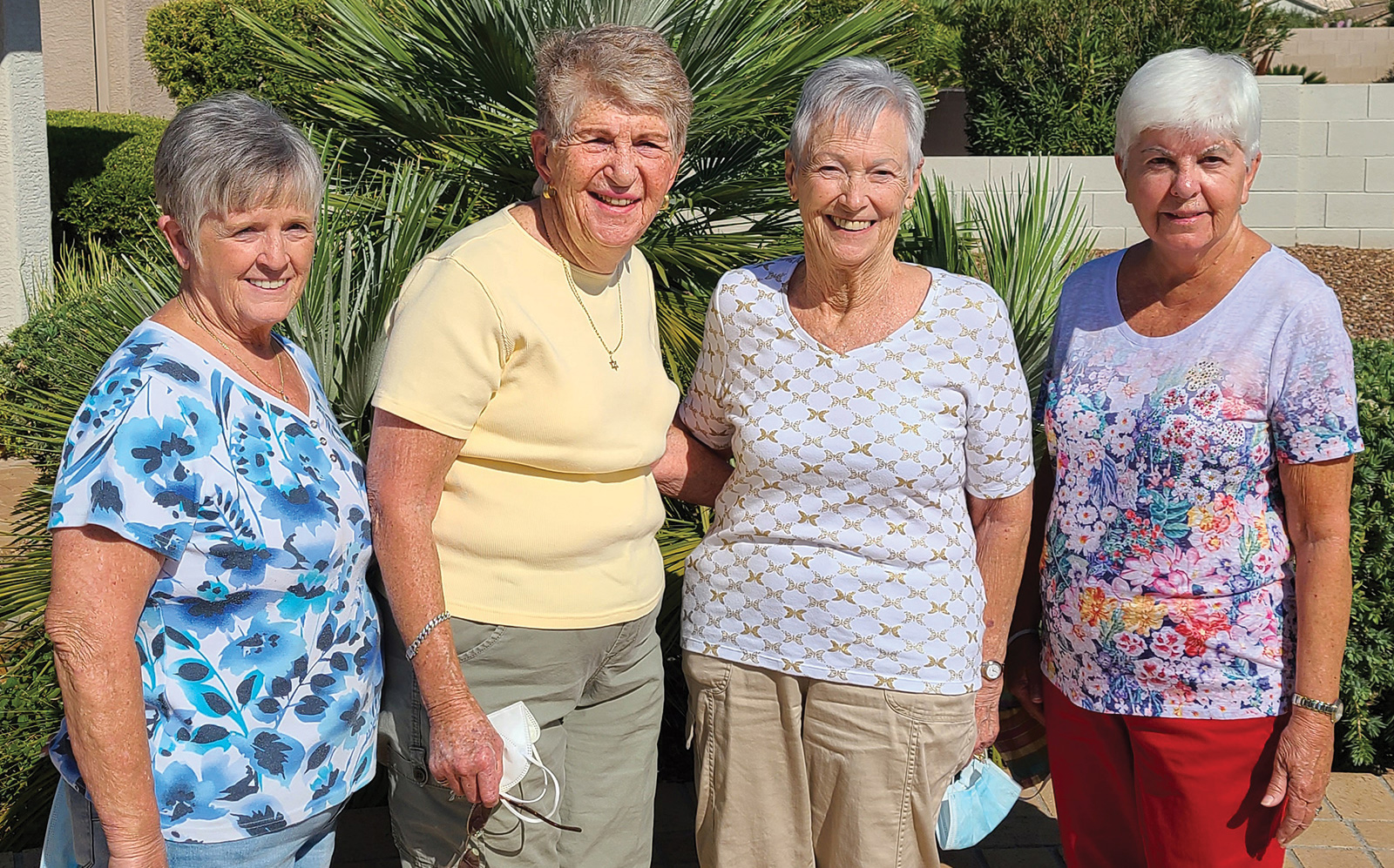 Merna Oakley, Esta Goldstein, Danna Koelling, and Peggy Ogier
