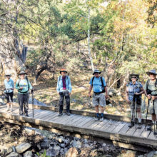 Hikers pose in Madera Canyon (Photo by Ruth Caldwell)