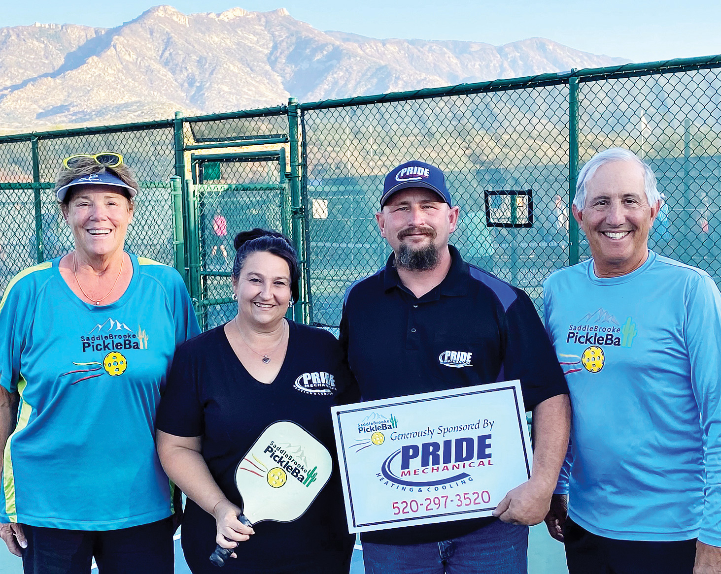 SPA Fundraising Co-chair, Shawne Cryderman; Pride Mechanical Owners, Christina and Allen Craighill; and SPA President, Peter Giljohann